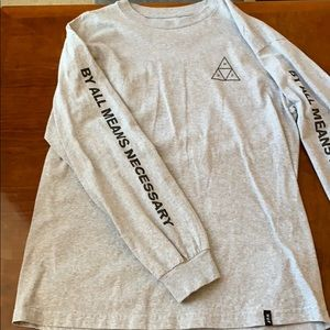 Huf Men's long sleeve gray tee size L